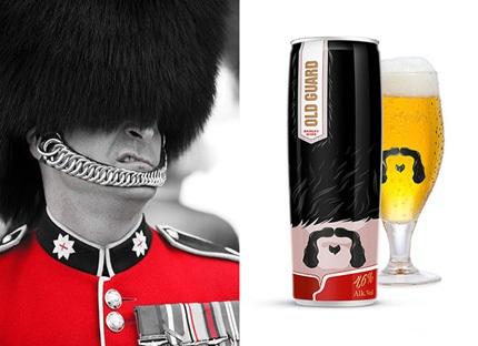 ایده های بسته بندی بطری ( طرح سرباز گارد سلطنتی )