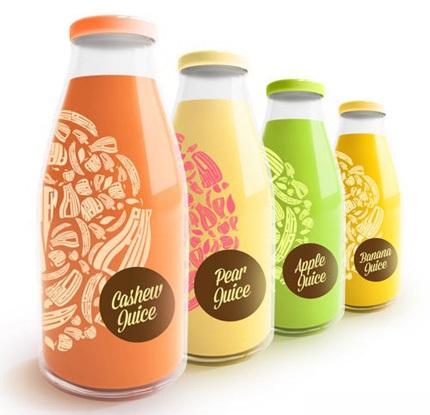 ایده های بسته بندی بطری ( طرح  آبمیوه های طعم دار )