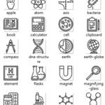 نماد های علم شیمی برای چاپ بر روی کارتن و جعبه