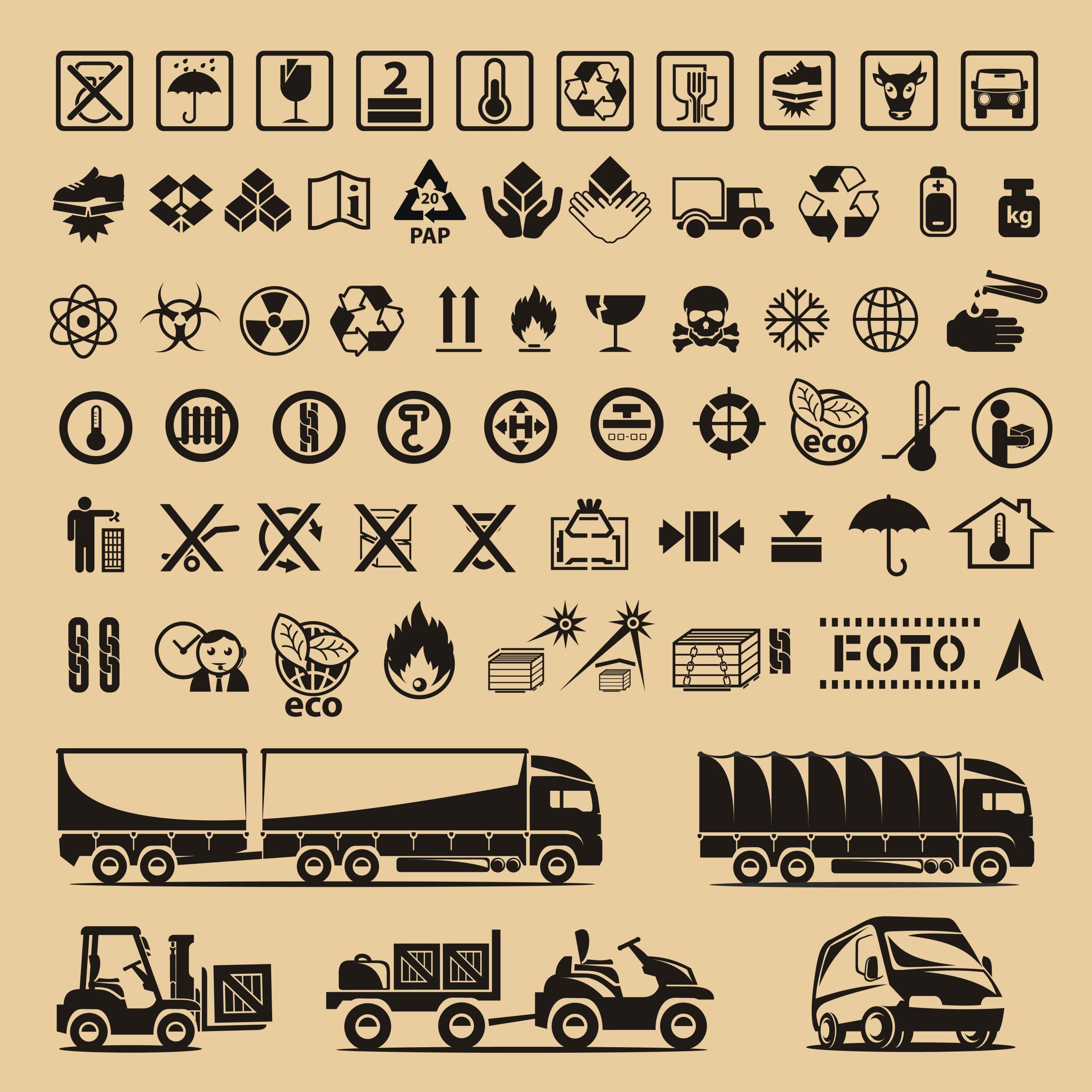 نماد ها و علائم روی بسته بندی کالا