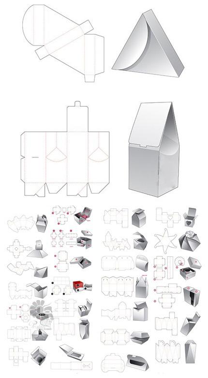 قالب اماده جعبه برای بسته بندی سری اول