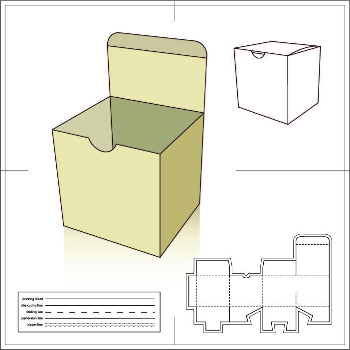 قالب جعبه درب شربتی ته قفلی